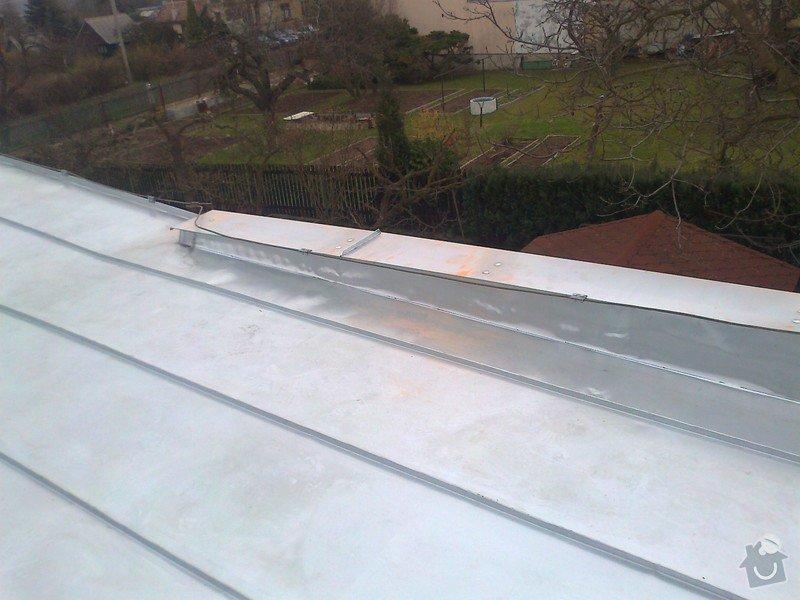 Pokrytí stávající pultové střechy cca 65m2.Sklon 8 až 11 stupnů.: Fotografie1281