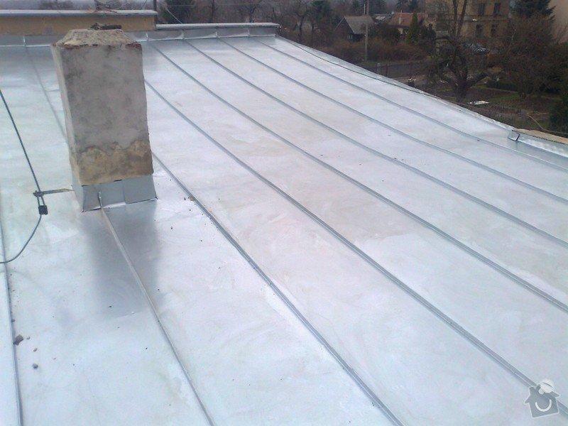 Pokrytí stávající pultové střechy cca 65m2.Sklon 8 až 11 stupnů.: Fotografie1277