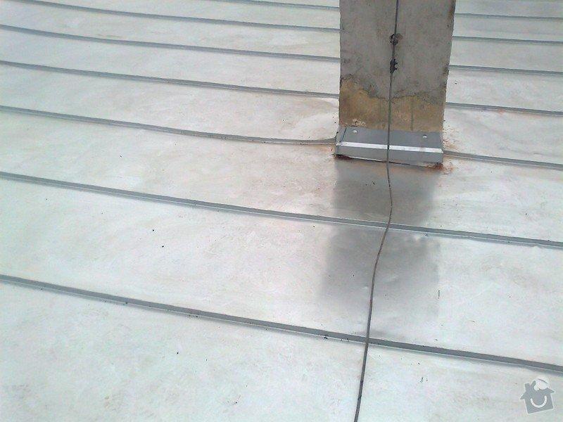 Pokrytí stávající pultové střechy cca 65m2.Sklon 8 až 11 stupnů.: Fotografie1285