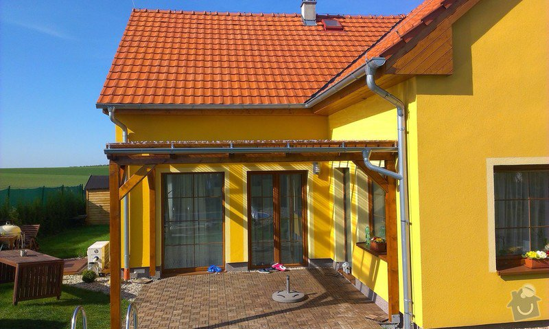 Stavba pergoly včetně zastřešení: IMAG1035