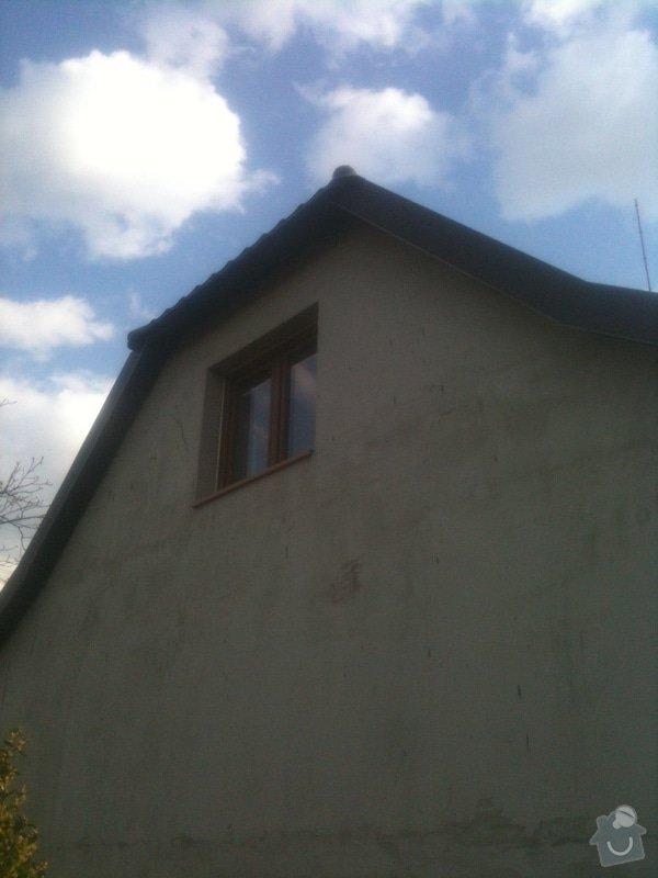 Pokrytí střechy přístavku 12 m2 vč. svodů plus svody na valby: foto2