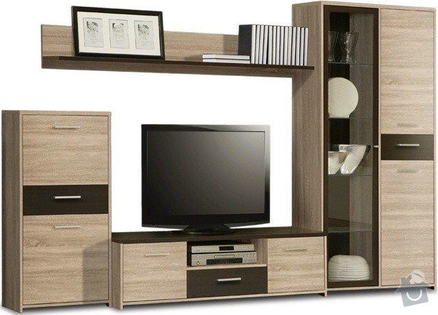Montáž obývací stěny : palma-mlpm01-dub-sonoma-original