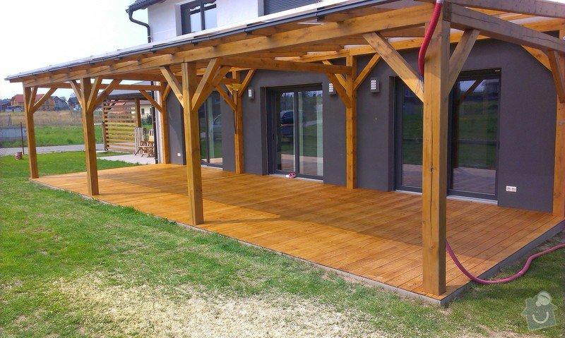 Výroba dřevěné terasy 50 m2: IMAG1047
