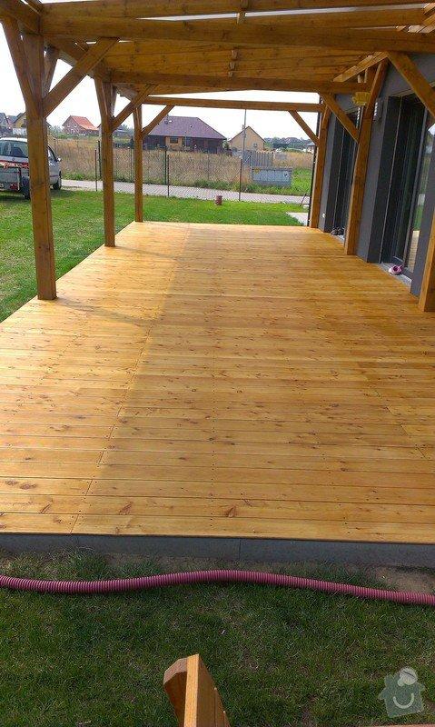 Výroba dřevěné terasy 50 m2: IMAG1048