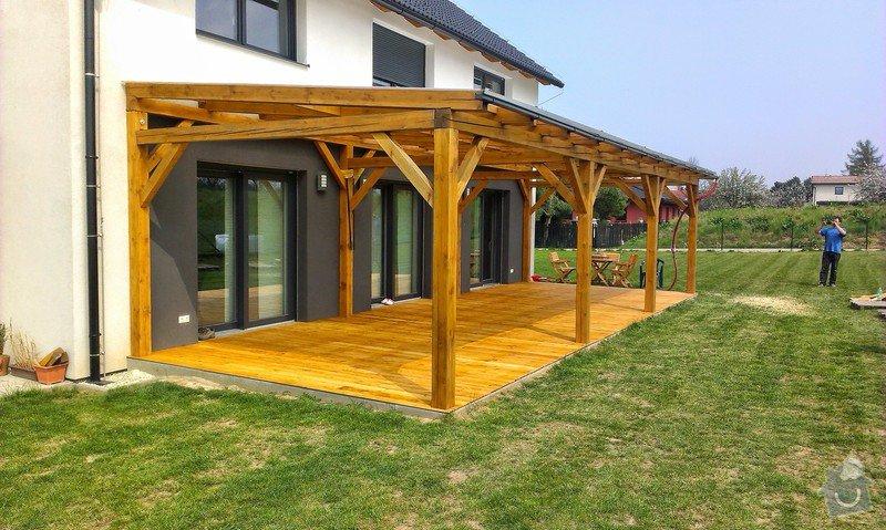 Výroba dřevěné terasy 50 m2: IMAG1045