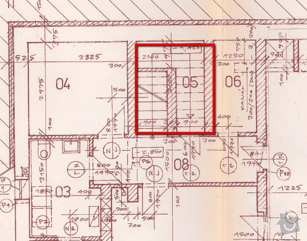 Vybourání schodiště v rodinném domě: suteren