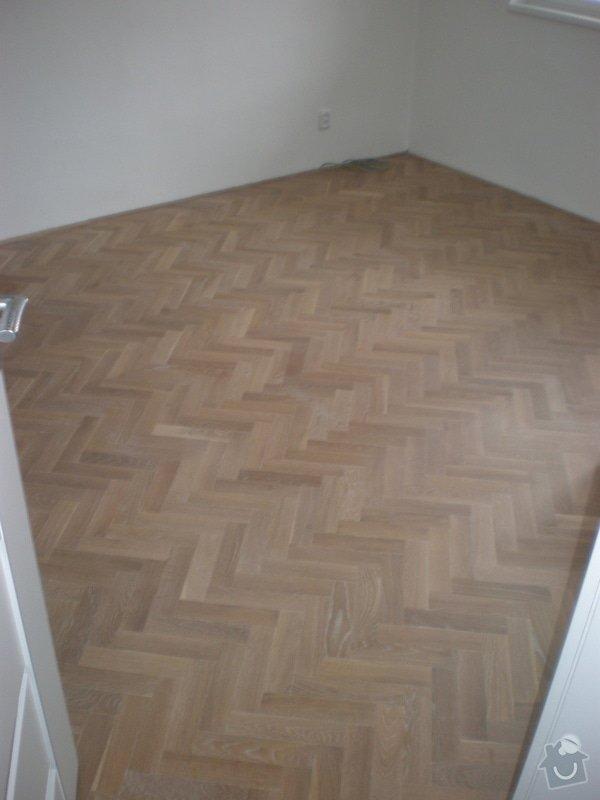 Renovace parket,vyrovnání podlah sanoniveleční stěrkou,lepení vinylové podlahy,montáž int.dveří: 012