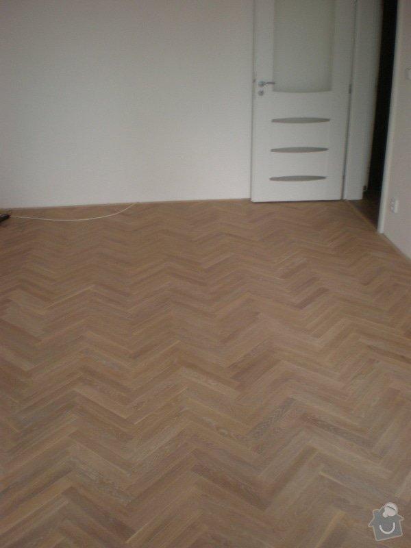 Renovace parket,vyrovnání podlah sanoniveleční stěrkou,lepení vinylové podlahy,montáž int.dveří: 013