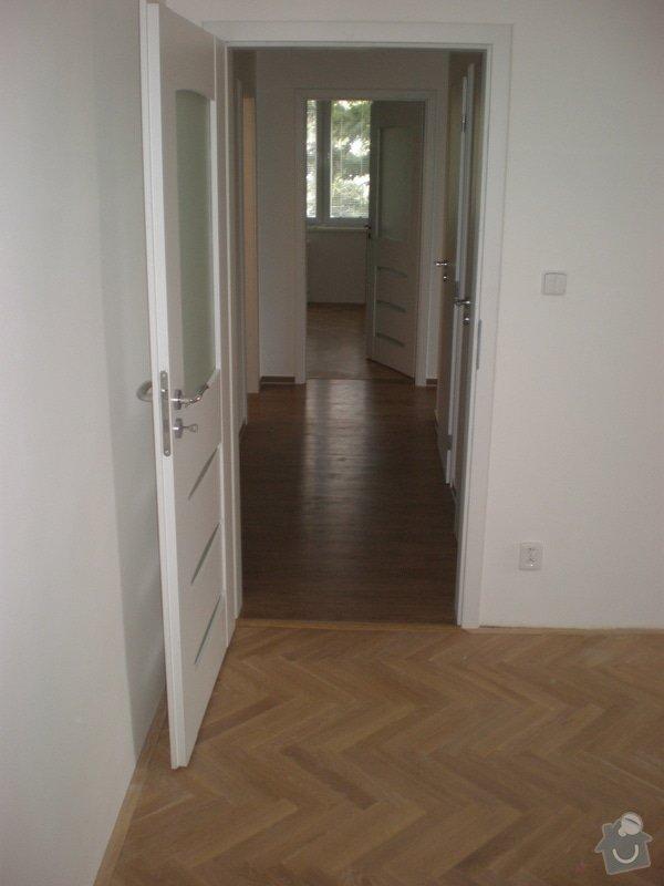 Renovace parket,vyrovnání podlah sanoniveleční stěrkou,lepení vinylové podlahy,montáž int.dveří: 014