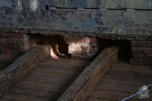 Oprava trámového stropu dřevěnými příložkami: IMG_7542