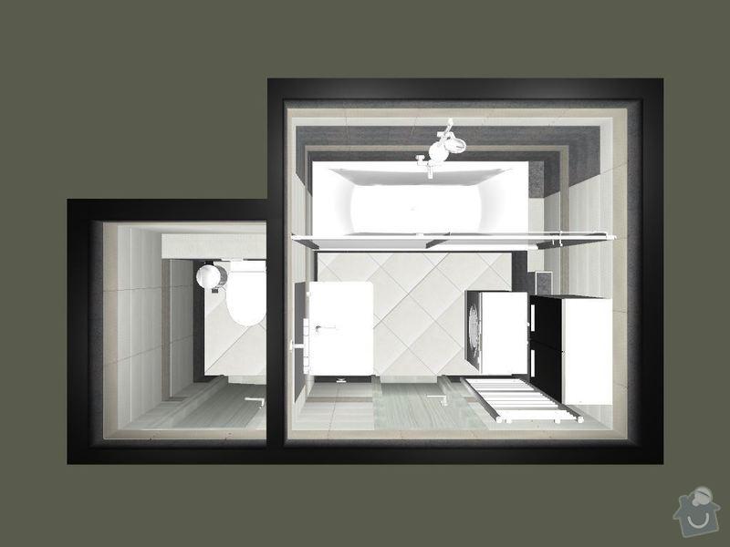 Kompletní rekonstrukce koupelny a toalety: 3D-01