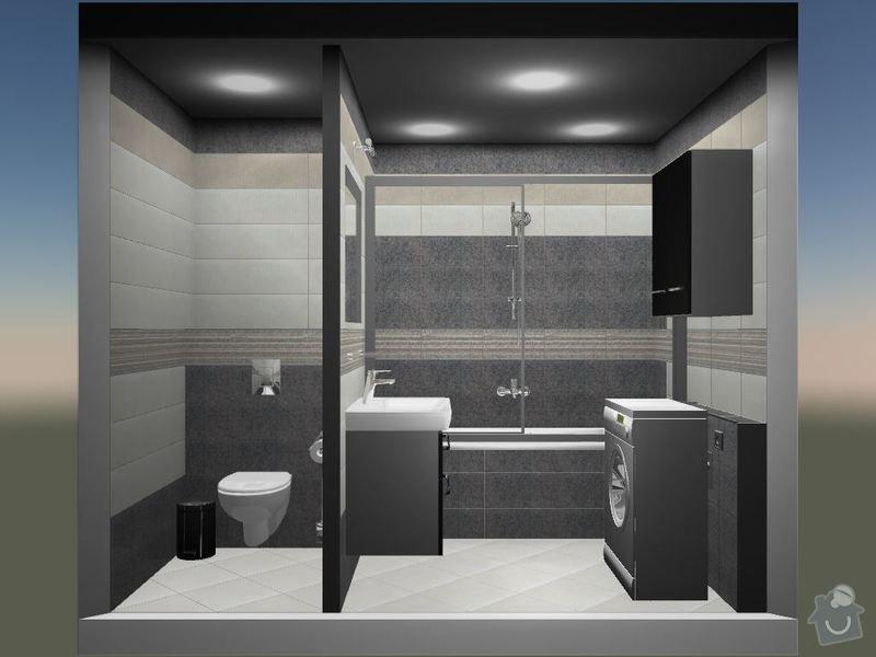 Kompletní rekonstrukce koupelny a toalety: 3D-08
