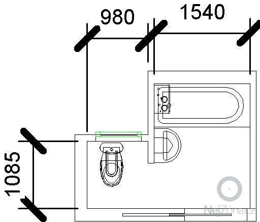 Rekonstrukce koupelny a WC: koupelna_var1