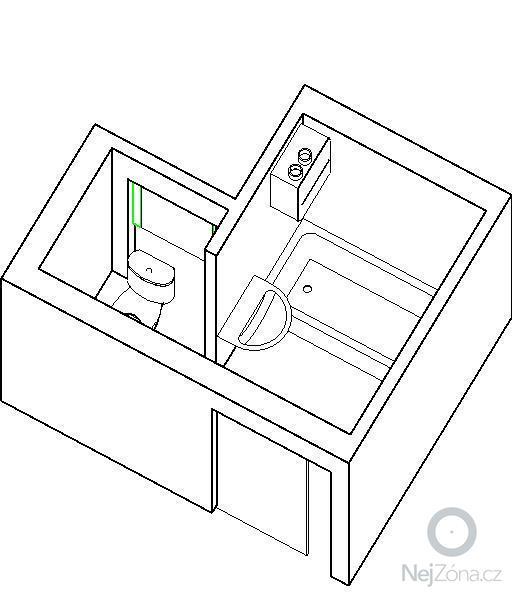 Rekonstrukce koupelny a WC: koupelna_var1_3d