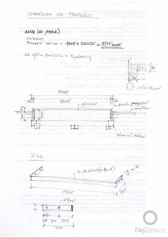 Zámečnické práce_výroba jednoduché okenní ohrádky na truhlíky: ohradka_truhlik_okenni