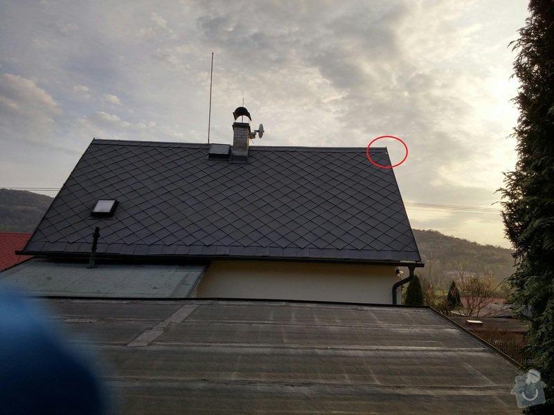 Upevnění uvolněné šablony střechy: strecha_Valtirov_88