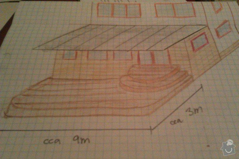 Dřevěnou verandu cca 9x3m: IMAG1269