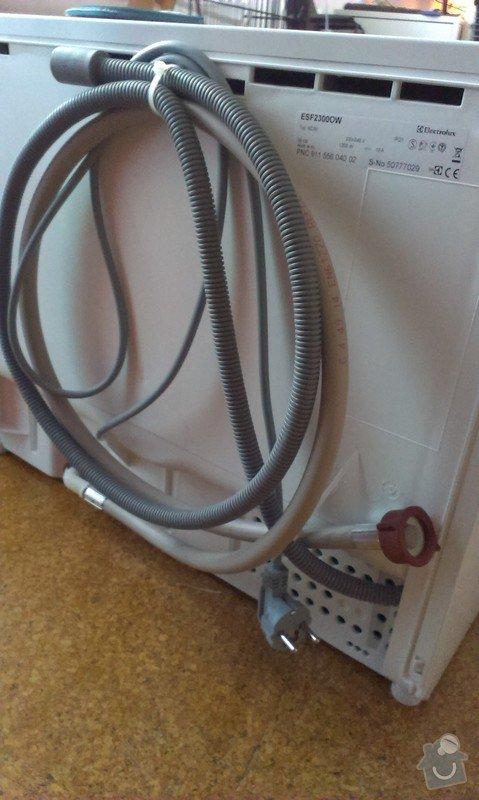 Zapojení stolní myčky, potřebné úpravy napojení na vodu (výměna roháčku?): IMAG1057