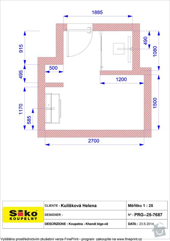 Obkladačské práce koupelna + wc cca 10m2 podlahové plochy: Plan_-_Kuliskova_Helena_Koupelna_-_Khandi_bige-oil_