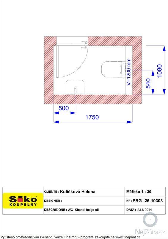 Obkladačské práce koupelna + wc cca 10m2 podlahové plochy: Plan_-_Kuliskova_Helena_WC_-Khandi_beige-oil_