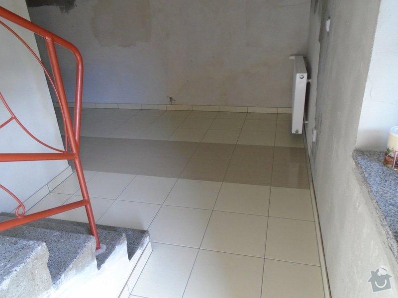Obklad pod kuch.linkou,pokládka dlažby kolem 20m2: DSC00094a
