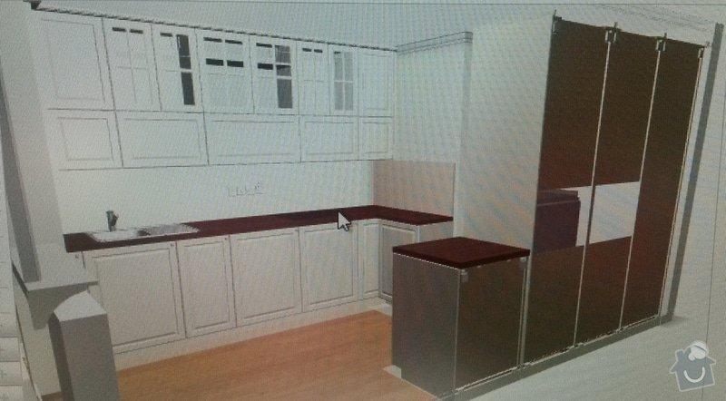 Montáž kuchyňské pracovní desky, instalace vestavné varné desky a instalace dřezu s baterií: 1_kuchynska_linka