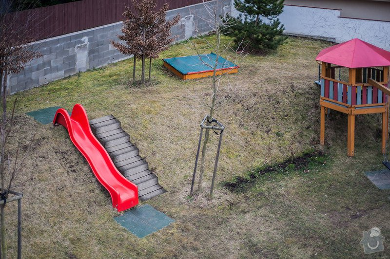 Realizace zahradního schodiště: KN78_hriste-schodiste_zakres01