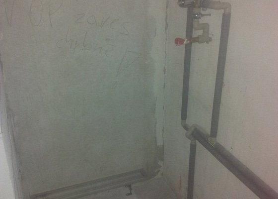 Instalaterske prace - uprava rozvodu vody a odpadu v ramci rekonstrukce panelakoveho bytu