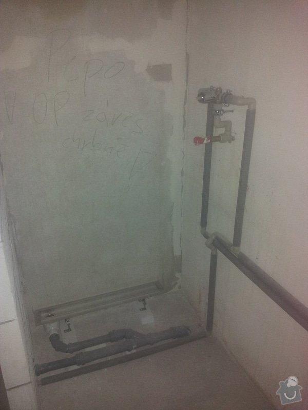 Instalaterske prace - uprava rozvodu vody a odpadu v ramci rekonstrukce panelakoveho bytu: 201504?7_074732