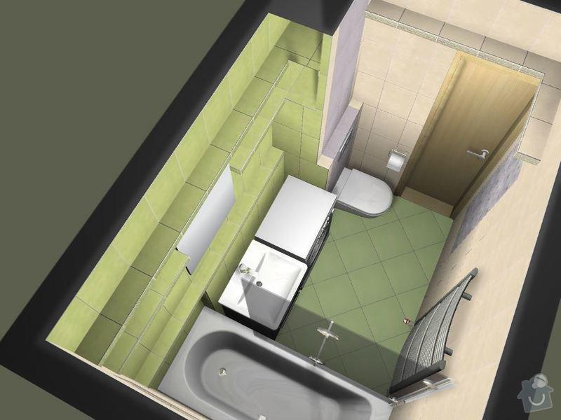 Obklad a dlažbu přestavěného jádra v paneláku: Vizualizace_v3-05