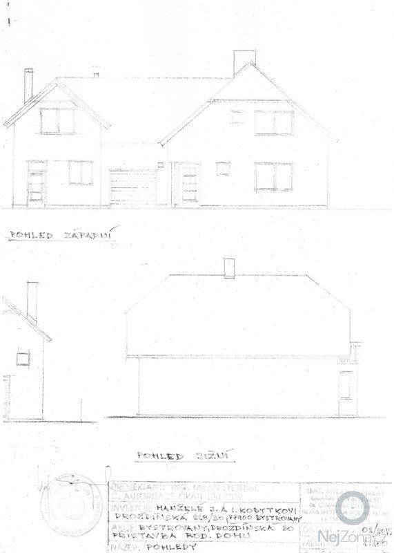 Zpracování cenové nabídky přístavby rodinného domu v Bystrovanech: pohled_2