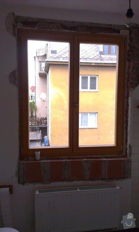 Zednické zapravení okna- Brno-Řečkovice: 2015-05-02_14.23.22