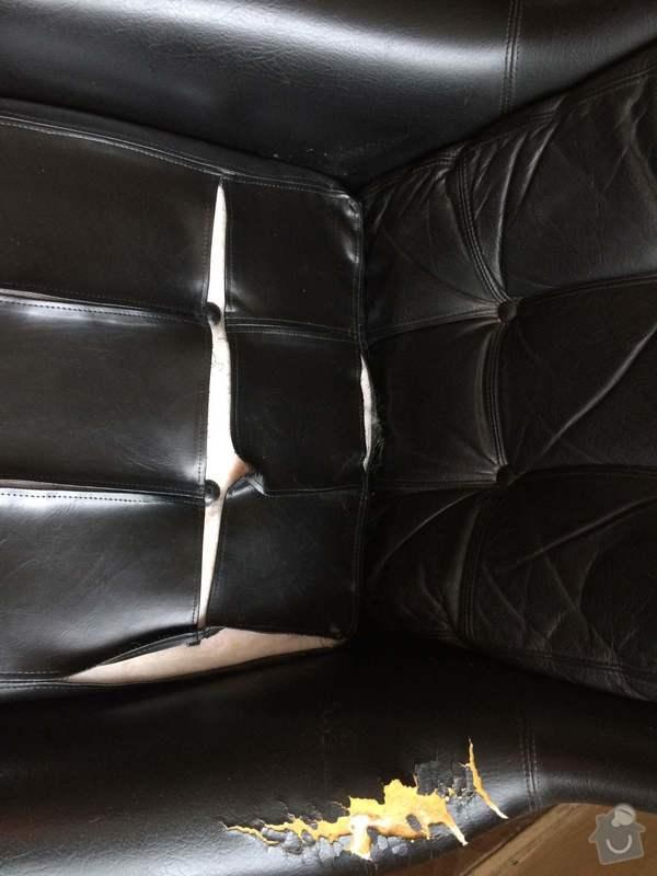 Oprava čalounění koženého křesla: IMG_6832