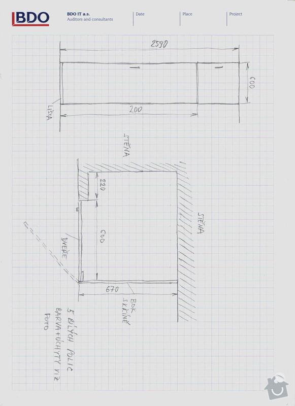 Zhotovení části skříně ve zdi: skrin_nakres
