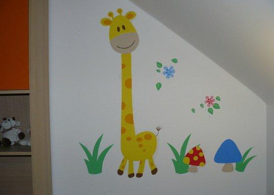 Malba dekorace v dětském pokoji
