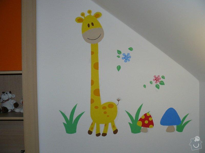 Malba dekorace v dětském pokoji: P1180175