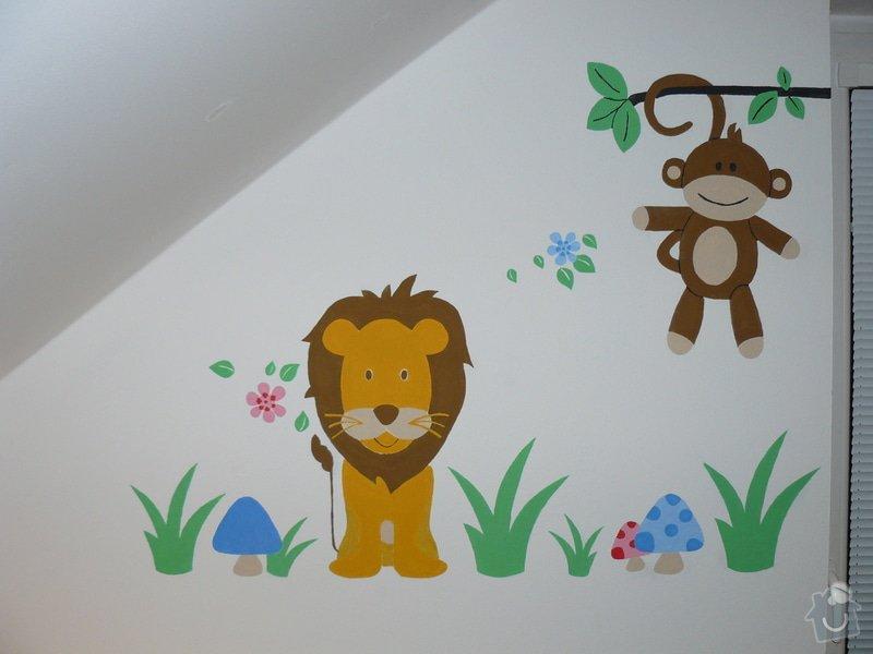 Malba dekorace v dětském pokoji: P1180178