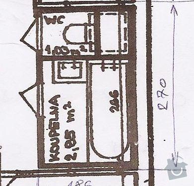 Rekonstrukce bytového jádra: Rozmery2