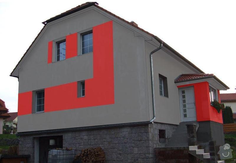 Fasada dom 300m2 + leseni: 3b
