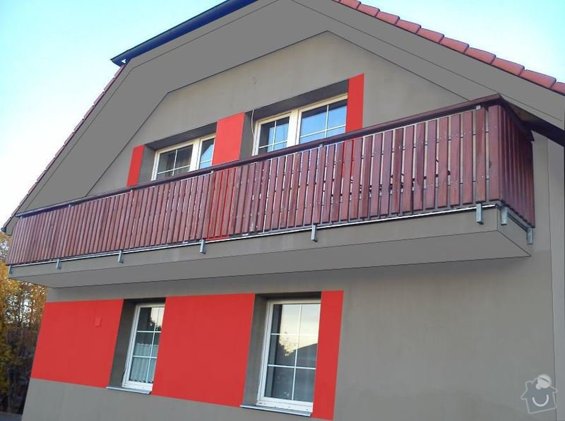 Fasada dom 300m2 + leseni: 3c
