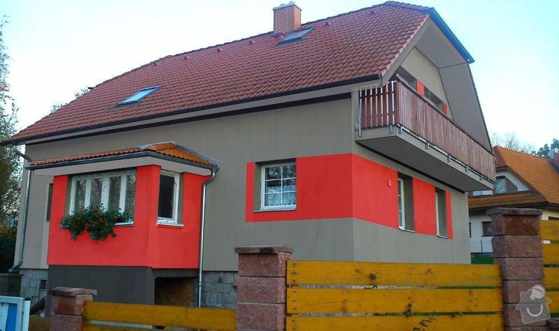 Fasada dom 300m2 + leseni: 3d