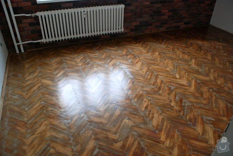 Renovace podlahy z dřevěných parket 18 m2: 3