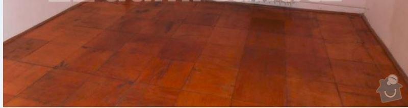 Renovace/ přebroušení dřevěných podlah; štuky: podlaha