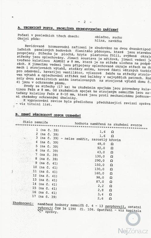 Oprava hromosvodů bytové domu : SCAN1177