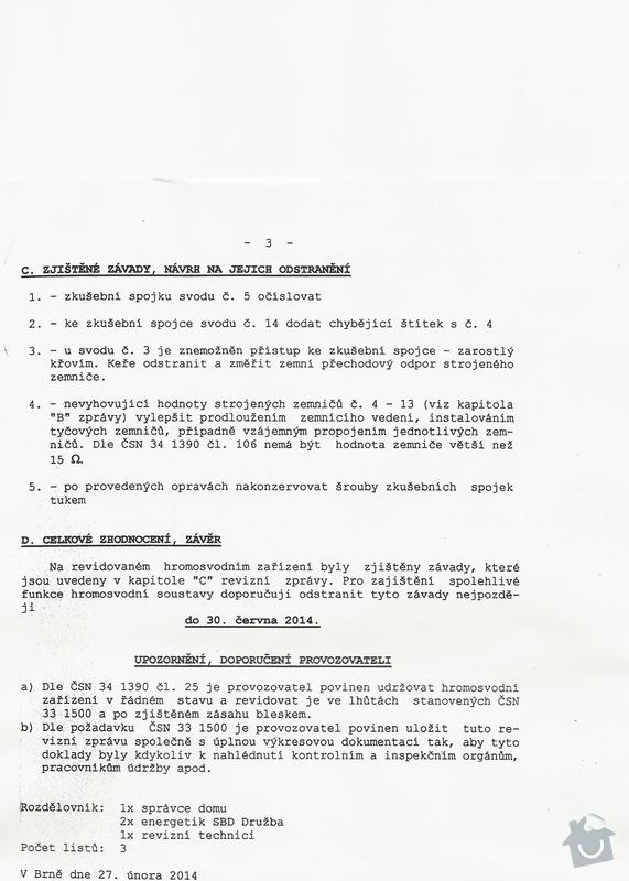 Oprava hromosvodů bytové domu : SCAN1178