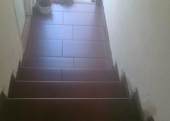 Obložení schodů dlažbou