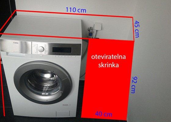 Rám-skříň na pračku na míru