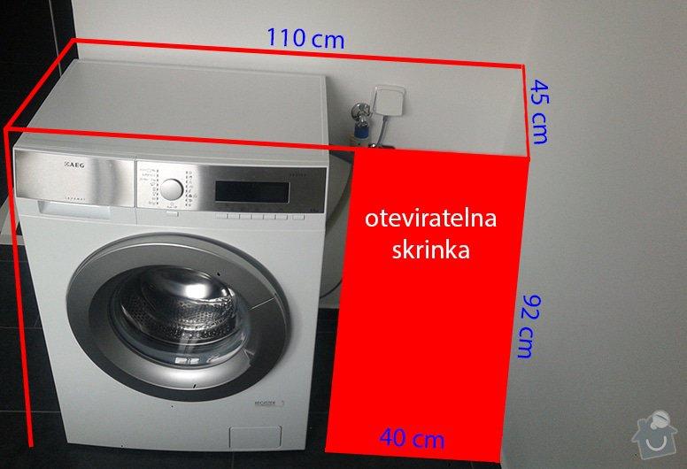 Rám-skříň na pračku na míru: pracka_skrinka