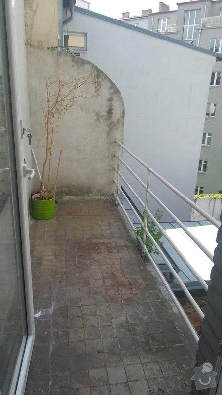 ZASÍŤOVÁNÍ BALKÓNU - nutnost kontrukce: balkonekX