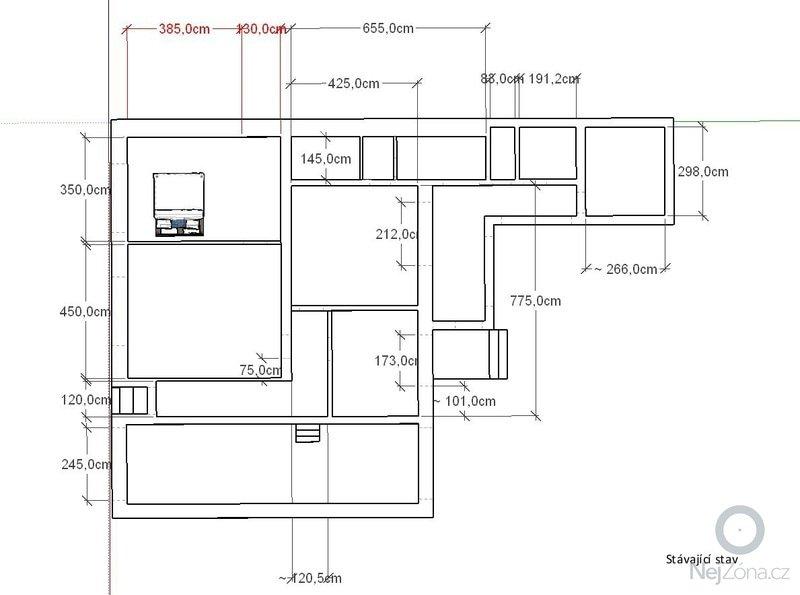 Rekonstrukce rodinného domu: puvodni-stav